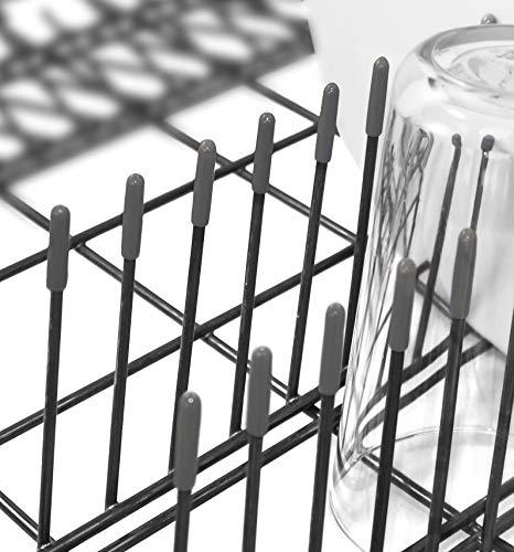 100x Premium Spülmaschinen-Gestell-Abdeckkappen für alle Geschirrkörbe | schadstoffgeprüft | starker Rost Schutz | grau | 1 Jahr Garantie
